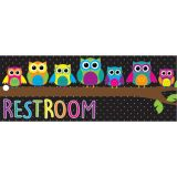 Laminated Hall Pass, Owls Restroom Pass