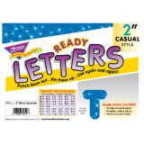 2 Uppercase Casual Ready Letters®, Blue Sparkle