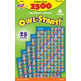 Owl-Stars!® super-Spots® Stickers Value Pack