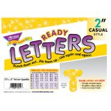 2 Uppercase Casual Ready Letters®, Yellow Sparkle