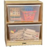 Jumbo Tote Storage, 2-Tote Unit
