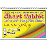 Brite Chart Tablet, 24 x 16, 1 1/2 Ruled