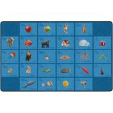 See My Alphabet PhotoFun Rug™, 10'6 x 13'2 Rectangle, Blue