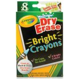 Crayola® Washable Dry-Erase Crayons, Bright colors, 8-color set