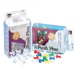 Push Pins, Assorted Colors