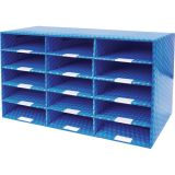 Dry Erase Classroom Storage, 15-Section Mailroom Sorter