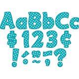 Teal Polka Dots 4 Letters Combo Pack