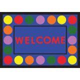 Lots of Dots™ Welcome Mat, 2'8 x 3'10, Primary