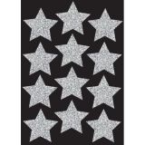 Die-Cut Magnets, 3 Silver Sparkle Stars