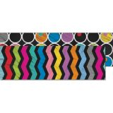 Colorful Chalkboard Two-Sided Straight Border