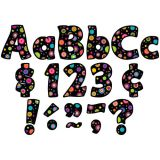 Funtastic Font 4 Letters, Colorful Circles, Combo Pack