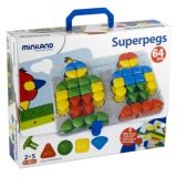 Super Pegs, Board + 4 Cards + 64 Pegs