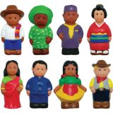 Multicultural Around the World Figures, Set of 8