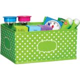 Lime Polka Dots Storage Bin, Small