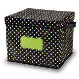 Chalkboard Brights Storage Bin, Box w/Lid