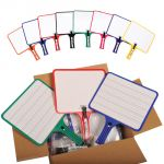 KleenSlate® Dry Erase Paddles, Rectangular, Classroom Set of 24