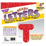 4 Uppercase Casual Ready Letters®, Red Sparkle