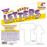 4 Uppercase/Lowercase Casual Solids Ready Letters® Combo Pack, Solid White