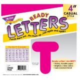 4 Uppercase Casual Solids Ready Letters®, Hot Pink