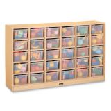 30 Tray Mobile Cubbie, With clear trays