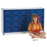 20 Tray Mobile Cubbie, Without trays