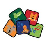 Learning Blocks Carpet Squares, Primary Colors, Set of 26