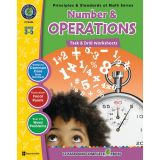 Principles & Standards of Math Task & Drill Worksheets, Number & Operations, Grades 3-5