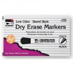 Dry Erase Markers, Chisel Tip, Black, Pack of 12