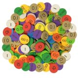 Sensational Math™ Place Value Discs, 10-Value Decimals to Whole Numbers, Set of 3,000