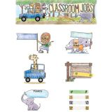 Safari Friends Classroom Jobs Mini Bulletin Board Set