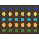 Lots of Dots™ Rug, 10'9 x 13'2 (30 dots), Earthtone