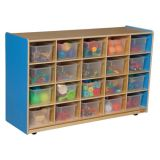 20-Tray Storage, 30H x 48W, With Translucent Trays, Blueberry™
