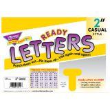 2 Uppercase Casual Solids Ready Letters®, Gold