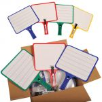 KleenSlate® Dry Erase Paddles, Rectangular, Classroom Set of 12