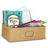 Burlap Storage Bin, Medium