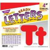 4 Uppercase/Lowercase Casual Solids Ready Letters® Combo Pack, Red