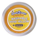 Jumbo Circular Washable Stamp Pad, Vivid Yellow