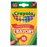 Crayola® Regular-Size Crayons, 16 colors