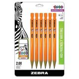 Cadoozles® Mechanical Pencils, Black Lead, Pack of 6 + 1 Block Eraser
