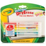 Crayola® Washable Dry Erase Markers, 6 colors
