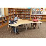 Berries® Collaborative Table, Bowtie Table, Maple top w/Gray edge & upper legs