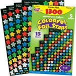 superSpots® & SuperShapes Variety Pack, Colorful Foil Stars
