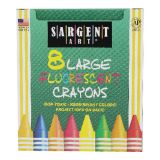 Fluorescent Crayons, Large, 8 colors