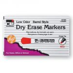 Dry Erase Markers, Chisel Tip, Red, Pack of 12