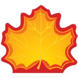 Creative Shapes Notepad, Maple Leaf, Mini