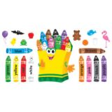 Colorful Crayons Bulletin Board Set