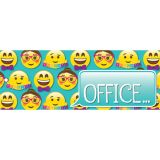 Laminated Hall Pass, Emoji Office Pass