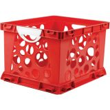 Interlocking Crate, Large, Red