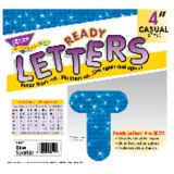 4 Uppercase Casual Ready Letters®, Blue Sparkle