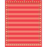 10-Pocket Pocket Chart, Red Marquee, 34 x 44